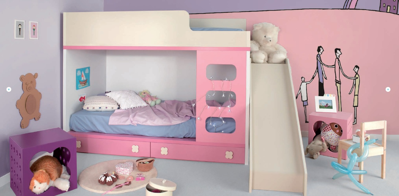Dormitorio con cama individual - Dormitorio infantil nina ...