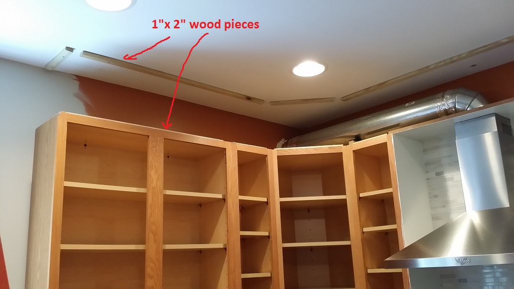 Just the right size kitchen upgrade status closing in - What to do with the space above kitchen cabinets ...