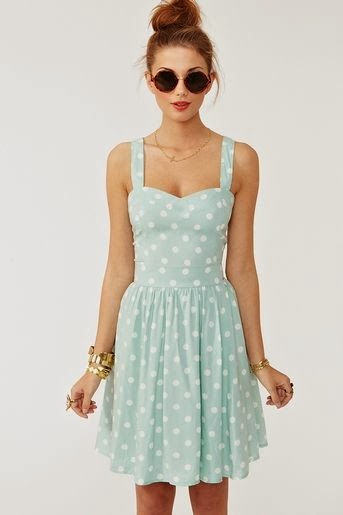 The most beautiful dot skyblue mini dress