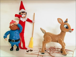 Elf on the Shelf Cleaning Up the Poop by Picklehead Soup