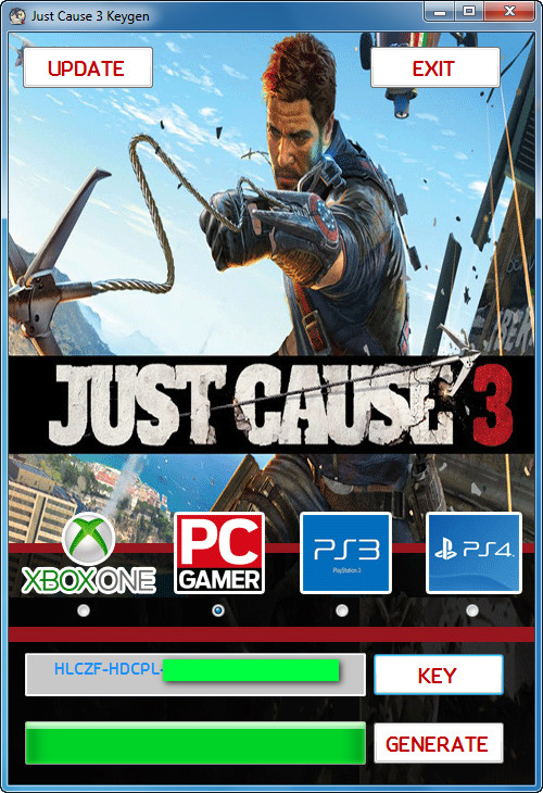 activation key for just cause 3