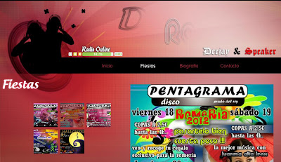 DJ Razor Tu Dj en la Sierra de Cádiz  Esta web ha sido creada con la intención de hacer publicidad a Dj Razor. El contenido de la web son algunas fotos de eventos anteriores y próximos eventos, más adelante subiré sesiones mías. Puedes contratar tu DJ para pinchar en la Sierra de Cádiz desde mi web. También hay una biografía sobre mí y un apartado de contacto.