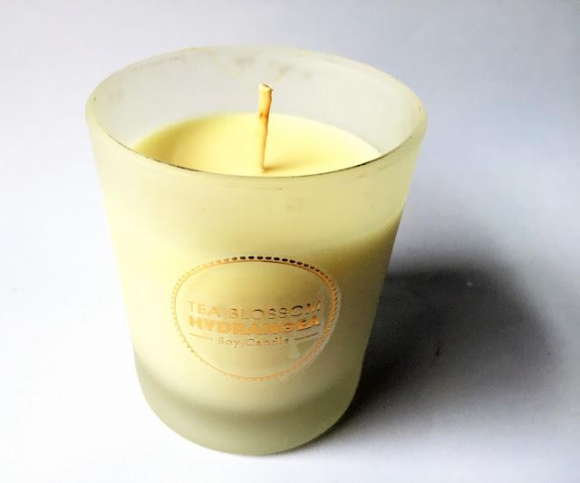 Tea blossom hydrangea soy candle ozsale