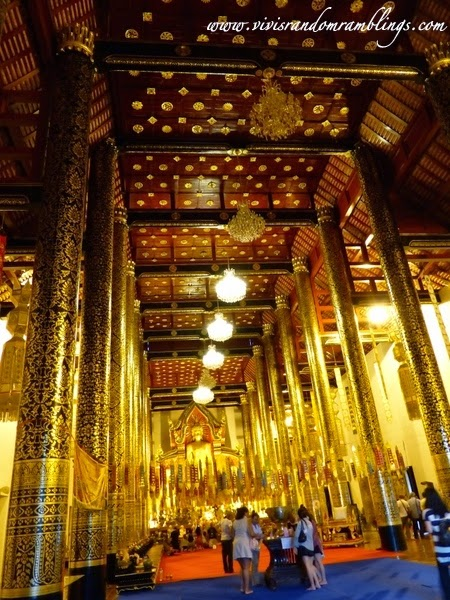 interior of the assembly hall, Wat Chedi Luang (Temple of the Big Stupa), Chiang Mai