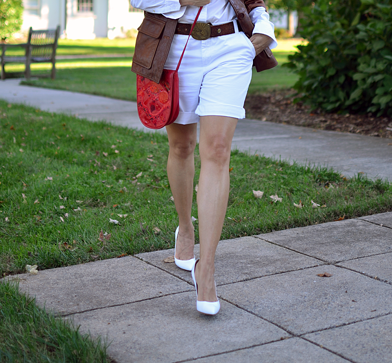 Shorts with heels street style