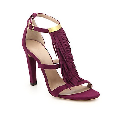 Chloe Marron sandals with fringe detail in the front