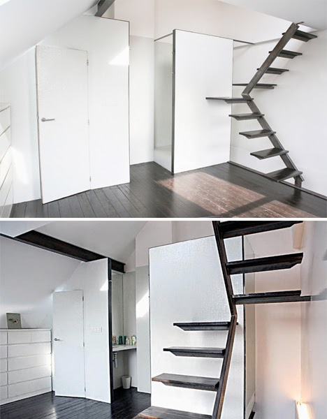 Space saving stairs designs for small homes stairs designs for Stairs for small house