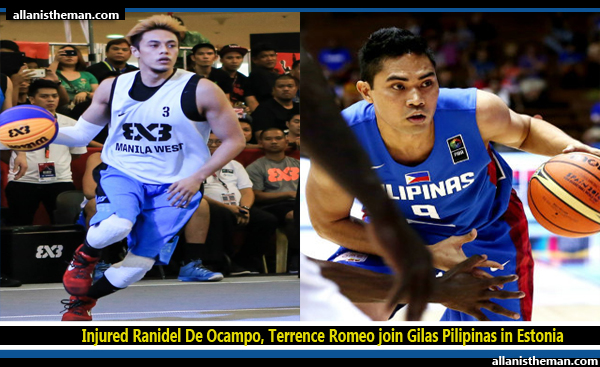 Injured Ranidel De Ocampo, Terrence Romeo join Gilas Pilipinas in Estonia