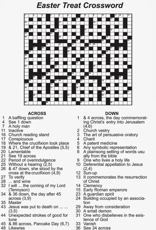It's just a graphic of Adaptable Easter Crossword Puzzles Printable