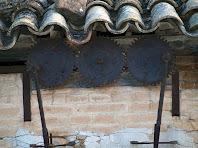 Detall dels engranatges exteriors de la sínia