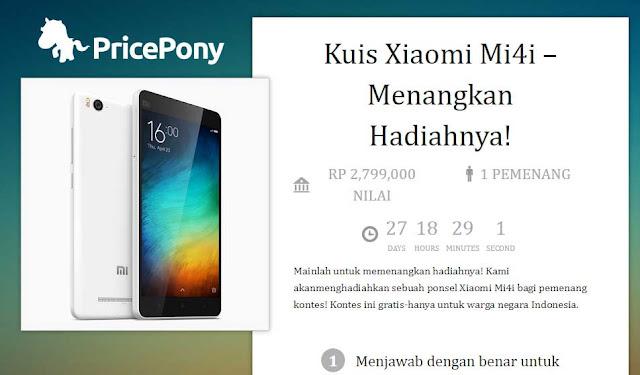 Price Pony kembali adakan kuis dengan hadiah Xiaomi MI 4i