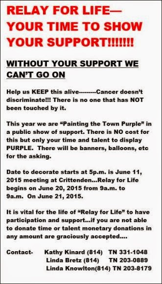 6-20/21 Relay For Life Coudersport