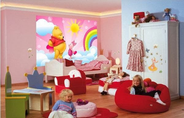 inspiration pour chambre winnie fille : chambre jeune fille design ...