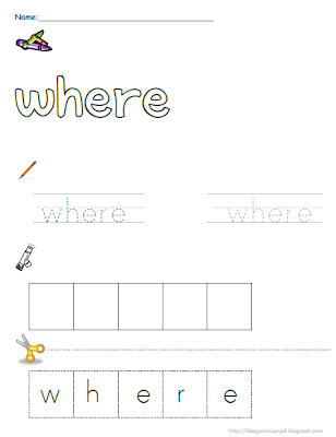 It 4: In MORE for sight Camp word  Sight very Began Words! Even worksheet