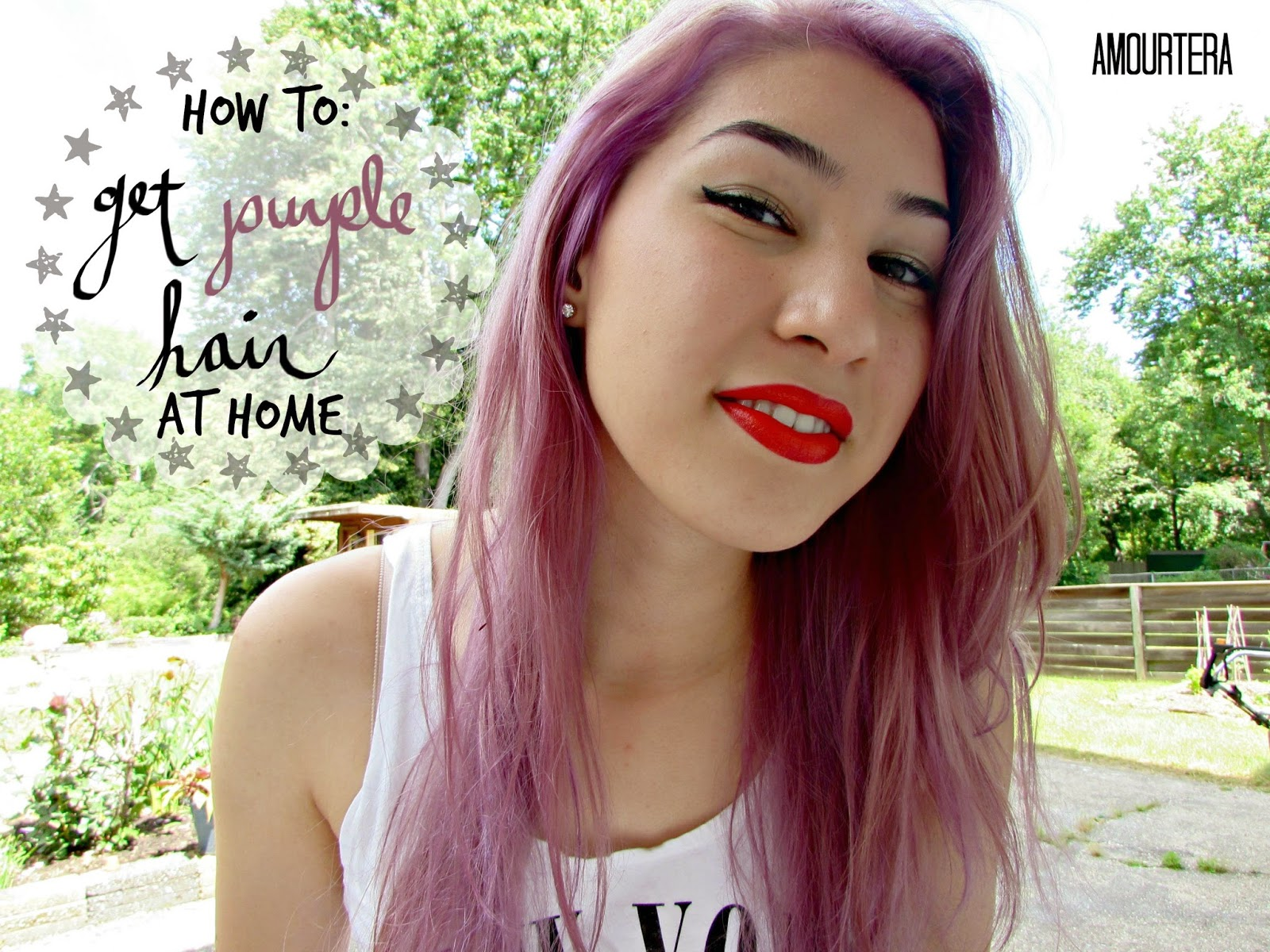 how to get purple hair at home amourtera