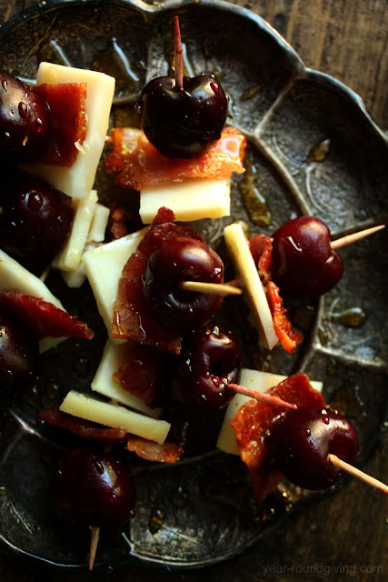 Cherry, Bacon & Goat Gouda with Honey Drizzle