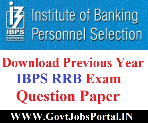 IBPS RRB Previous Year Question Paper