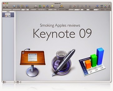 tampilan program presentasi Apple Keynote