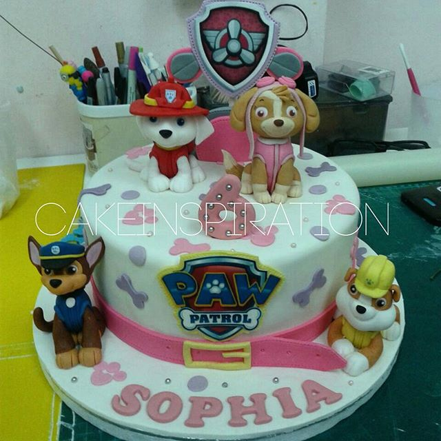 The Sensational Cakes PAW PATROL DOG THEME 3D CAKE PINK RED BLUE
