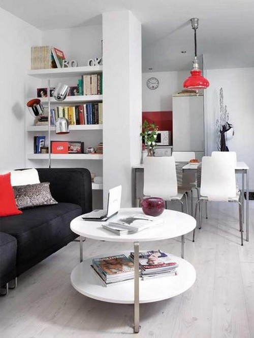 Decoración interior de pequeño apartamento ideal para hombre ...