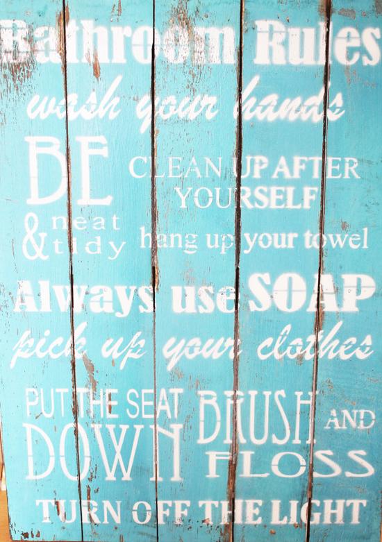 ... Dass Jetzt Im Badezimmer An Einige Regeln Erinnern Soll (da Meine  Kinder Noch Nicht Oder So Noch Nicht So Gut Englisch Sprehen, Kann Ich Von  Der Seite ...