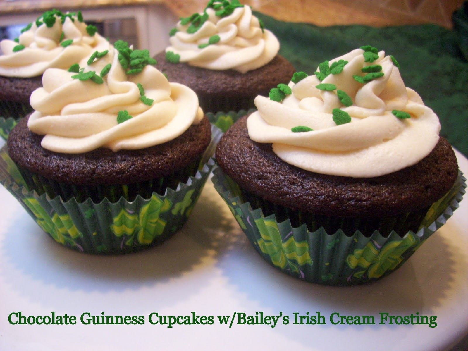 Flavors by Four: Chocolate Guinness Cupcakes w/Bailey's Irish Cream ...