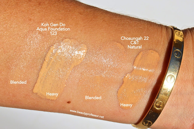 Chosungah C&T Foundation natural swatches