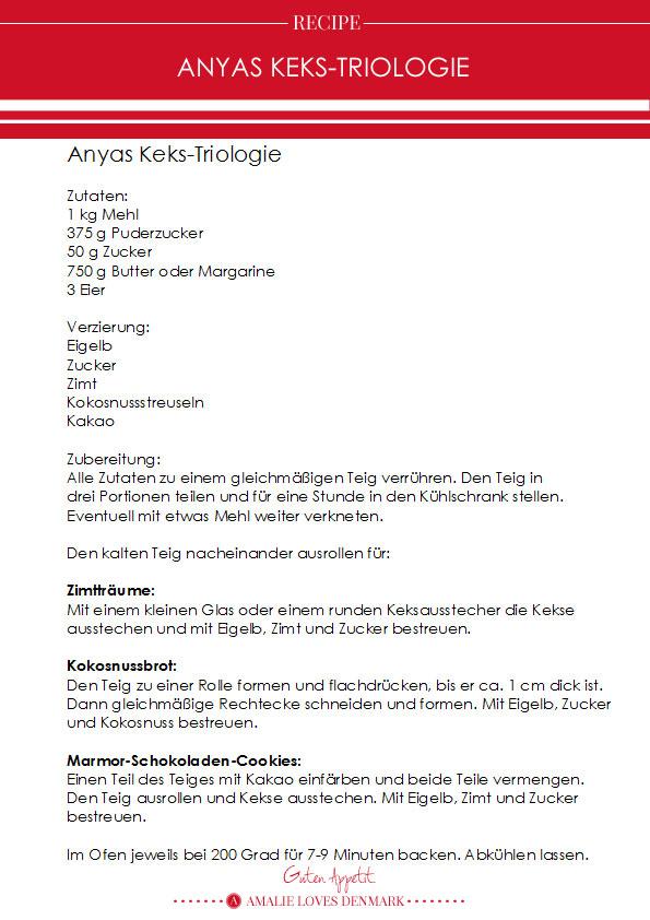 Amalie loves Denmark Anyas Kekstriologie
