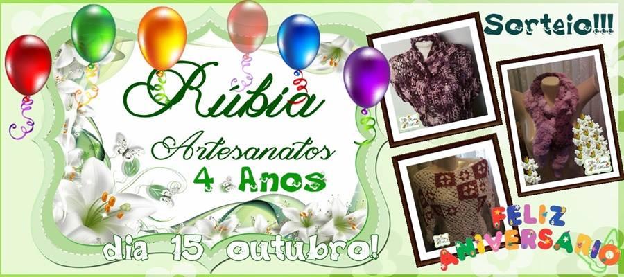 Sorteio no blog Rubia Artes e Artesanatos