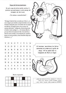 DIBUJOS DE LA ANUNCIACION DE MARIA
