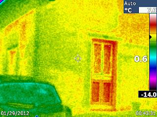 image thermique d'une maison