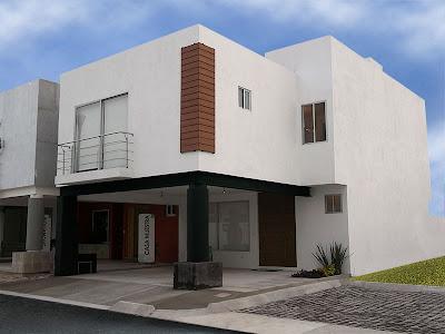 Fachadas de casas modernas fachada de casa moderna en for Casa moderna 8