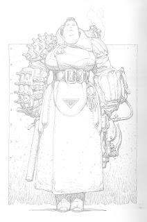 Dibujo extraido del libro de ilustraciones de Mekanica del ilustrador Chichoni