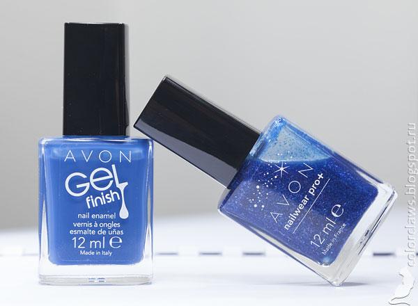 Avon Gel Finish Royal Vendetta + Nailwear Pro+ Celestial Blue