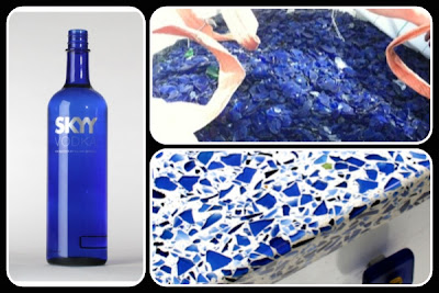 The Bottles Look Lovely On The Shelf, And While Youu0027re Pouring The Drinks,  But After Being Recycled, They Look Even Better In This Vetrazzo® Mix:  Cobalt ...