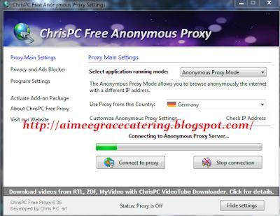 ChrisPC Free Anonymous Proxy 2016