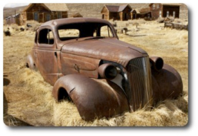 The image of an old rusted car is a metaphor for our websites. We could boast a classic wonderful website but if if its rusted underneath and the engine block is toast then the reality is it hardly works at all.