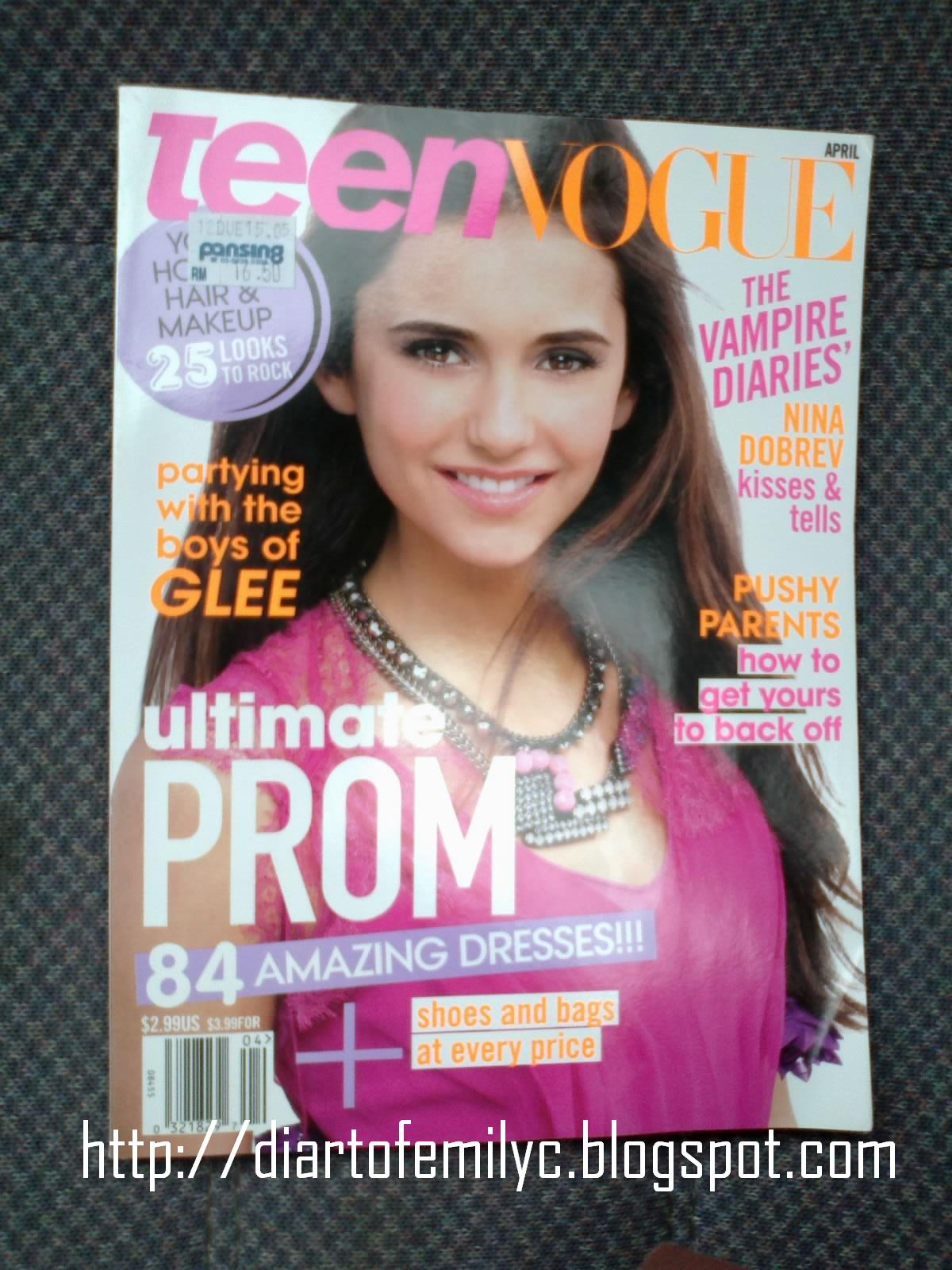 Such a hardcore fan I am! Hahaha. Ahhhh. The cover girl this issue is Nina ...