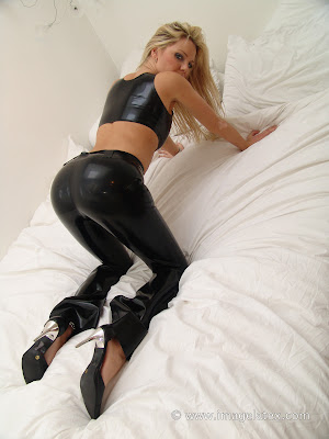 Perfect Ass in Tight Black Shiny Latex