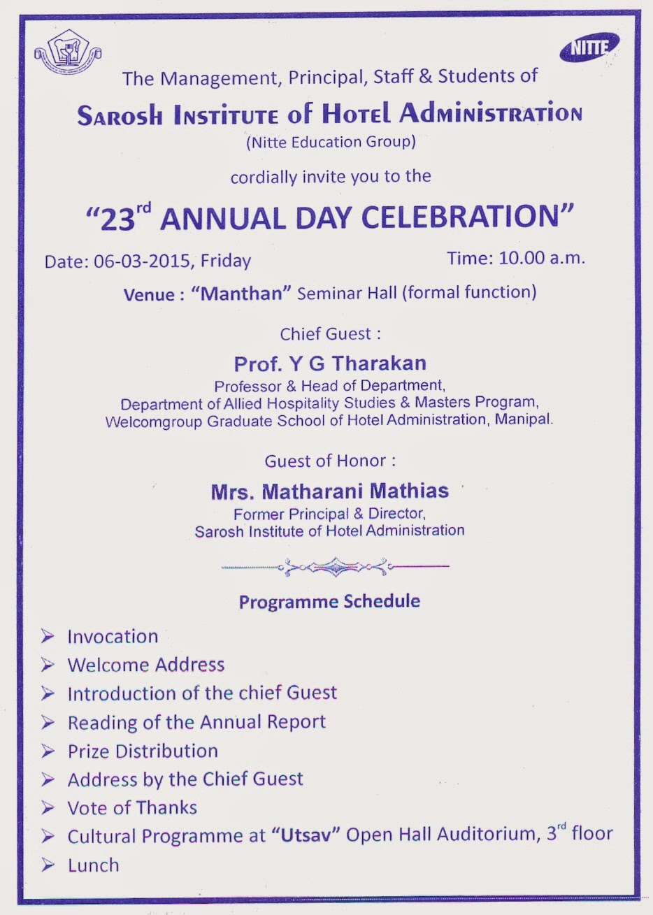 annual day celebration report