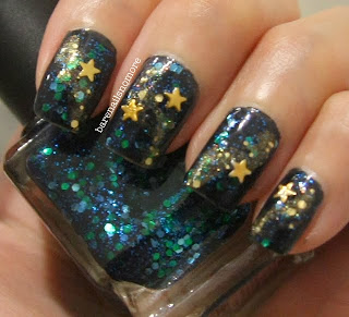 Deborah Lippmann Across the Universe with gold star studs