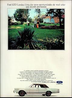 Ford LTD - Landau,  brazilian advertising cars in the 70. os anos 70. história da década de 70; Brazil in the 70s; propaganda carros anos 70; Oswaldo Hernandez;
