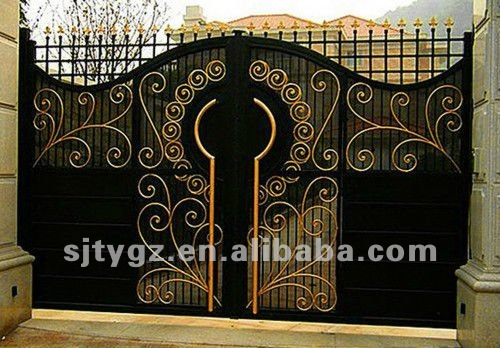 Home Decor: Beautiful Entry Gates, Wooden and Steel