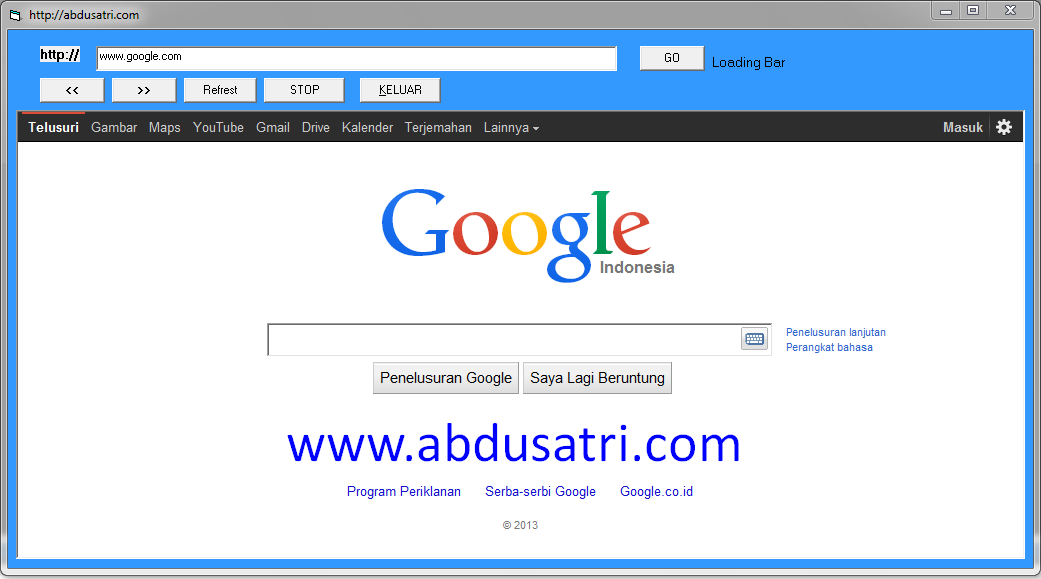 contoh program web browser sederhana di VB