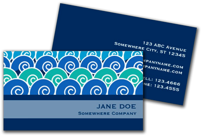 Sold! Beach Waves Blue Business Card