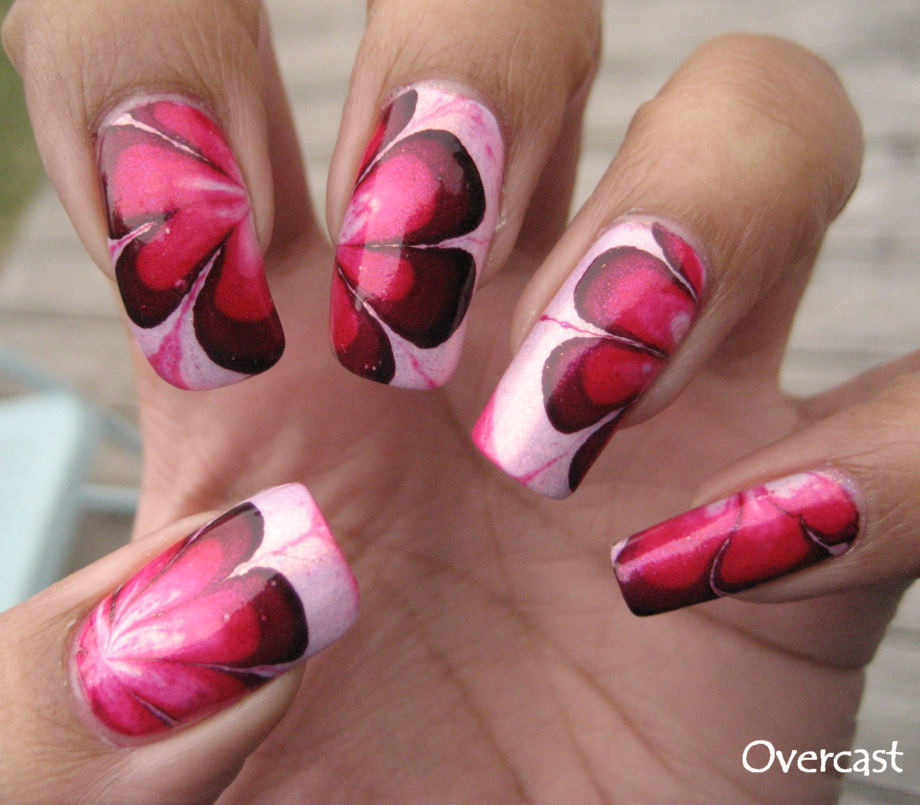 Water Marbling Nail Art Technique | Esther's Nail Corner