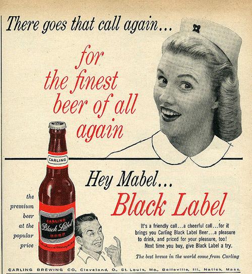 Publicidad Vintage sobre Cerveza