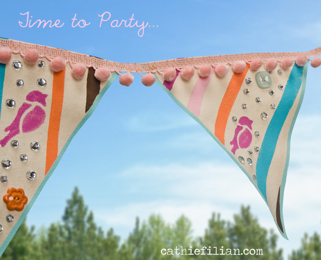 Cathie Filian Diy Painted Canvas Party Banner