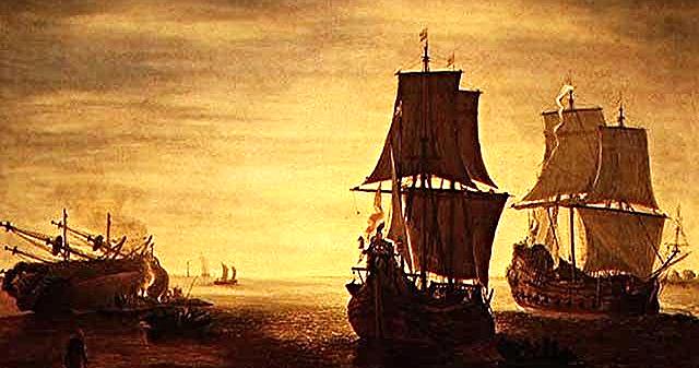 Three Masted Ships and Marine Art