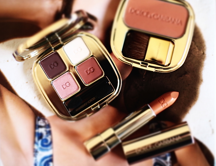 dolce gabbana maquillage été 2015 the eyeshadow brown blush the blush apricot rouge à lèvres shine on avis test swatch